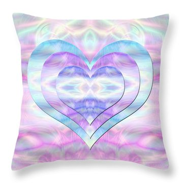 Three Hearts As One Throw Pillow