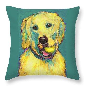Three Hundred Fiftyfourth Retrieve Throw Pillow by Jane Schnetlage