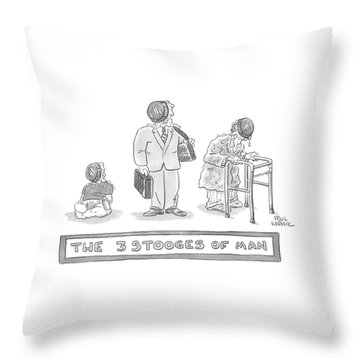 Three Images Of A Baby Throw Pillow
