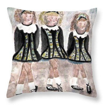 Three Irish Lasses Throw Pillow