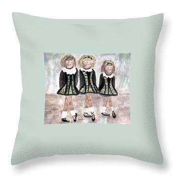 Three Irish Lasses Throw Pillow