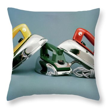 Three Irons By Casco Products Throw Pillow