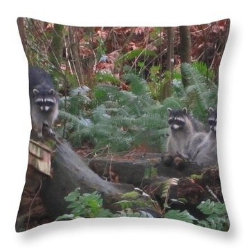 Three Is A Crowd Throw Pillow by Kym Backland