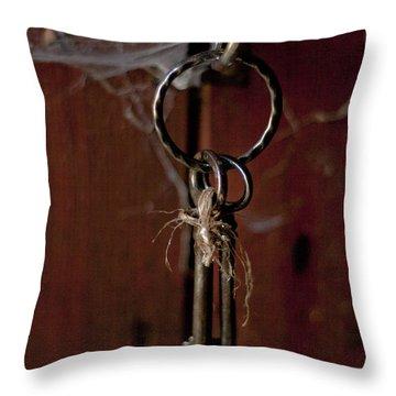 Three Keys Throw Pillow by Georgia Fowler