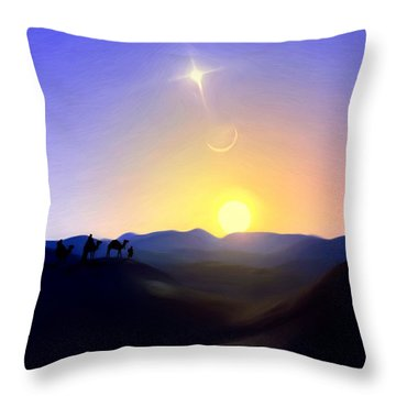 Three Kings Comet Throw Pillow