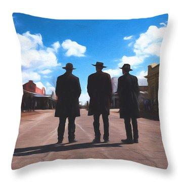Three Lawmen Throw Pillow