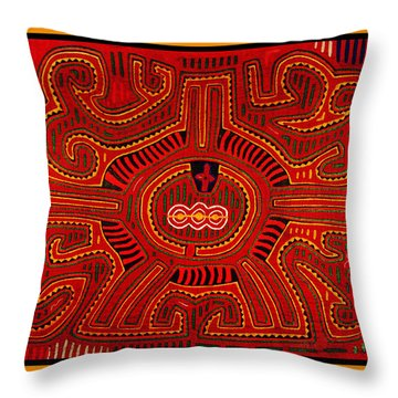 Throw Pillow featuring the digital art Three Layers Of The World by Vagabond Folk Art - Virginia Vivier