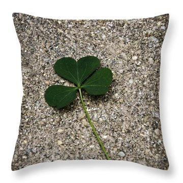 Three Leaf Clover Throw Pillow