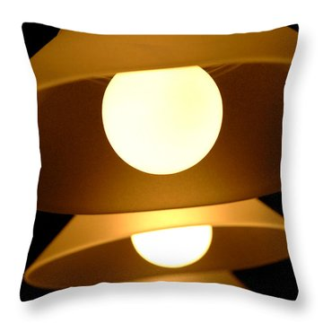 Three Lights Throw Pillow by Lena Wilhite
