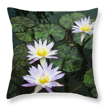 Three Lilies  Throw Pillow by Don Wright