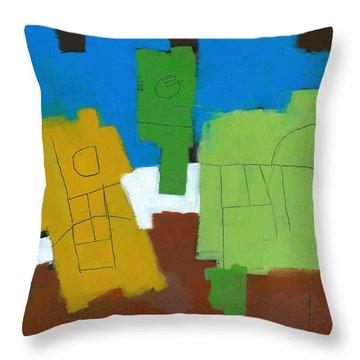 Three Musicians Throw Pillow by Douglas Simonson