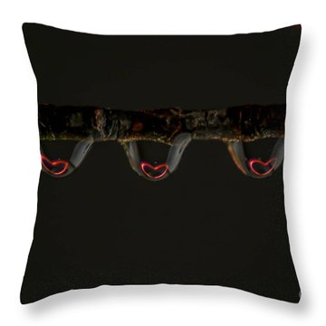 Three Of Hearts Throw Pillow by Patrick Shupert