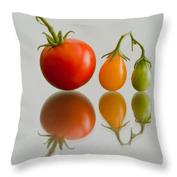 Three Of The Kinds Throw Pillow by Jonathan Nguyen