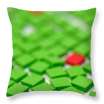 Three Of These Things Are Not Like The Others Throw Pillow by Amy Cicconi