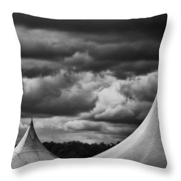 Throw Pillow featuring the photograph Three Peaks by Adrian Pym