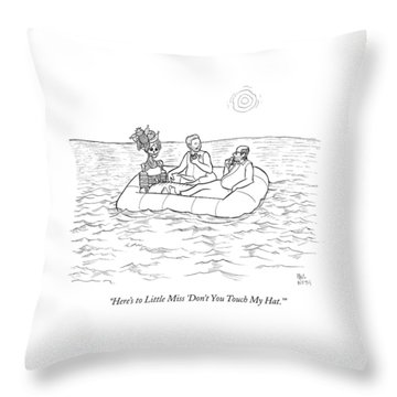 Three People Are In A Lifeboat. Two Of Them Eat Throw Pillow