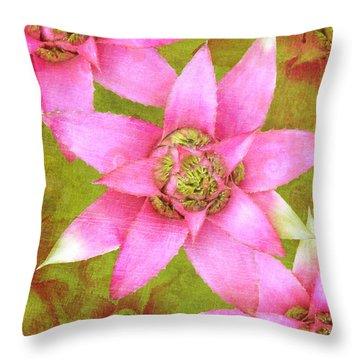 Three Pink Ladies Throw Pillow