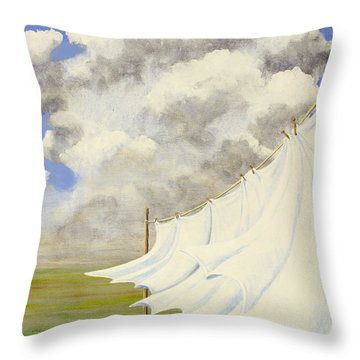 Three Sheets To The Wind Throw Pillow