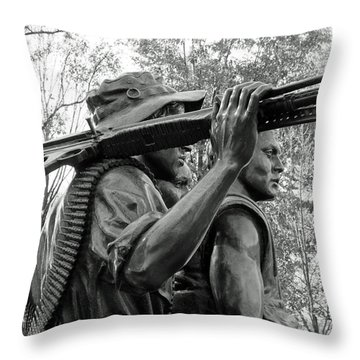 Three Soldiers In Vietnam Throw Pillow