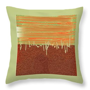 Three Squares Throw Pillow by Nedunseralathan R