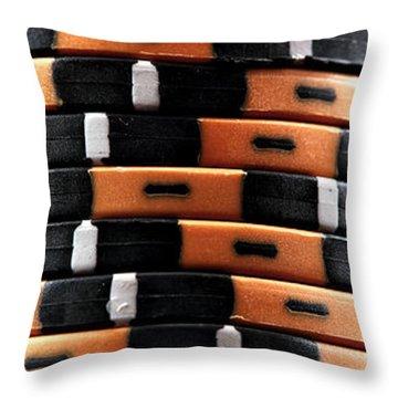 Three Stacks Throw Pillow