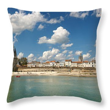 Three Towers At The Port Of La Throw Pillow