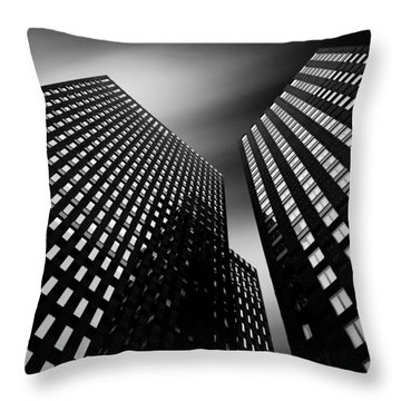 Three Towers Throw Pillow