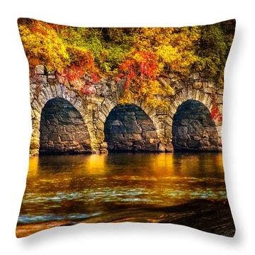 Three Tunnels Throw Pillow by Bob Orsillo