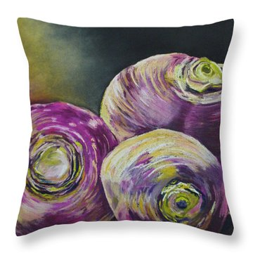 Three Turned Up Throw Pillow