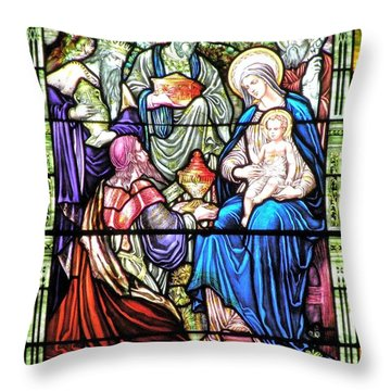 Three Wise Men - Visitation Of The Magi Throw Pillow