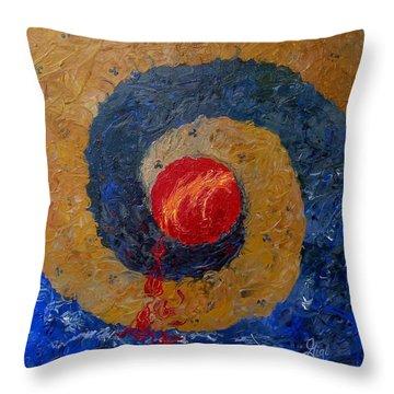 Threefold Anguish Throw Pillow