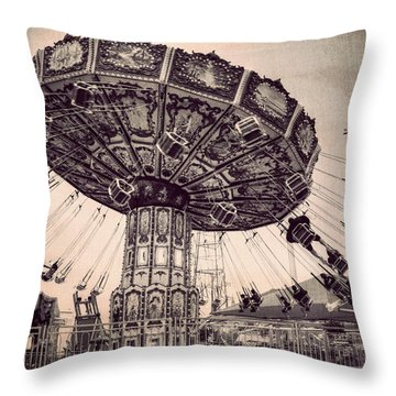 Thrill Rides Throw Pillow