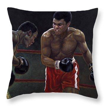 Thrilla In Manilla Throw Pillow