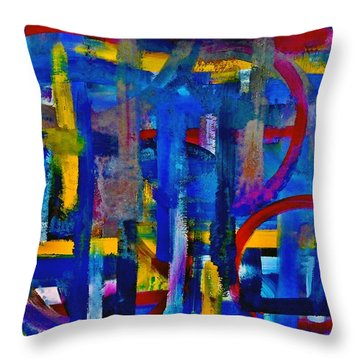 Anchored In Art Throw Pillow by Lisa Kaiser