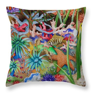 Thriving Ocean - Octopus Throw Pillow by Katherine Young-Beck