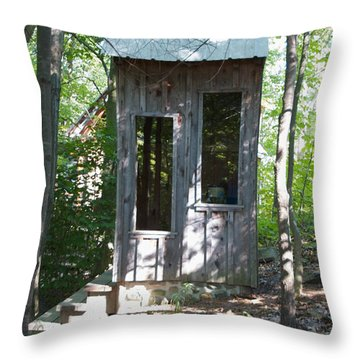 Throne With A View Throw Pillow