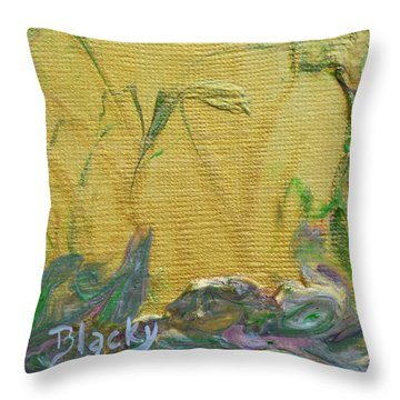 Through A Sunlit Veil Throw Pillow by Donna Blackhall
