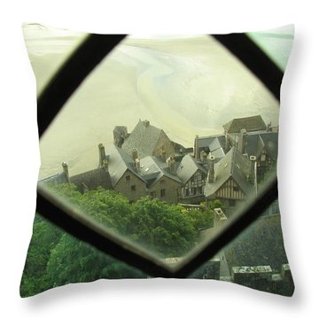 Throw Pillow featuring the photograph Through A Window To The Past by Mary Ellen Mueller Legault
