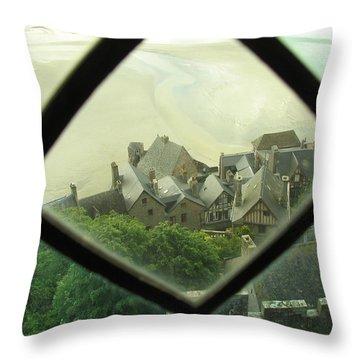 Through A Window To The Past Throw Pillow