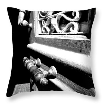 Throw Pillow featuring the photograph Through An Open Door Into Darkness by Vicki Spindler