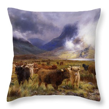 Through Glencoe By  Way To The Tay Throw Pillow