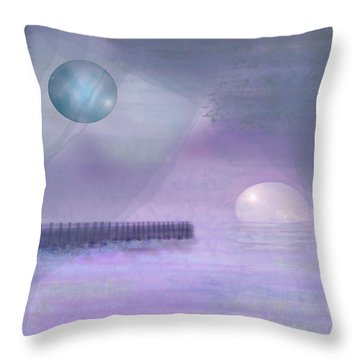 Through Gossamer Throw Pillow by Peri Craig