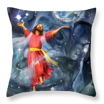 Through Him Throw Pillow