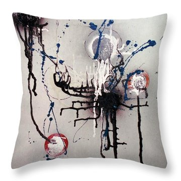 Throw Pillow featuring the painting Through Mezcal Soaked Eyes by Roberto Prusso