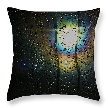Through My Window Throw Pillow by Anna Villarreal Garbis