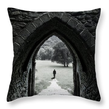 Through The Arch Throw Pillow by Svetlana Sewell