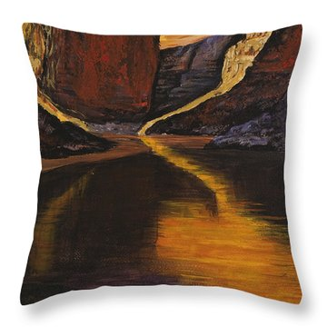 Through The Cracks Throw Pillow