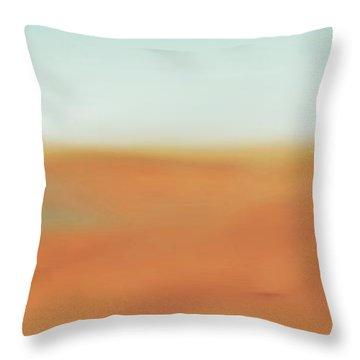 Through The Desert Throw Pillow by Hannes Cmarits