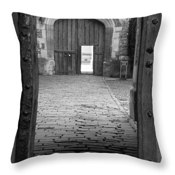 Throw Pillow featuring the photograph Through The Door by Meaghan Troup