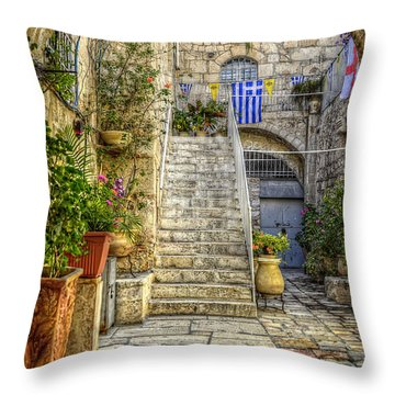 Through The Doorway Throw Pillow by Ken Smith